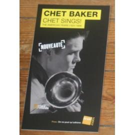 plv 14x25cm chet baker chet sings ! jazz rigide cartonnée magasins fnac