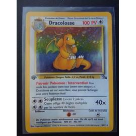 Dracolosse 4/62 Ed1 Holo Fossile Fran�aise