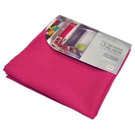 3 Serviettes De Table 40x40 Essentiel Fuchsia