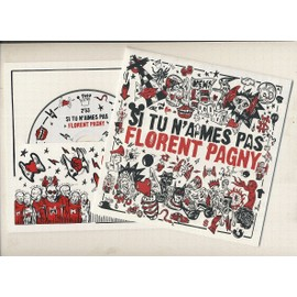 florent pagny : si tu n'aimes pas florent pagny (de calogero) - [ poster + cd single ]