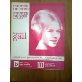 "Partition ""Poupée de cire, poupée de son"" (France Gall)"