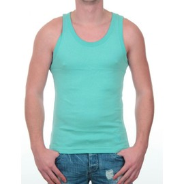 Tee-Shirts Manches Courtes Hommes Crossby Turquoise