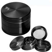Grinder Broyeur Effriteur Black Leaf 4 Parties Black Domina