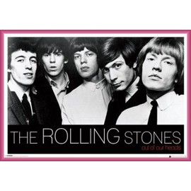 Poster encadré: Rolling Stones - Out Of Our Heads (61x91 cm), Cadre Plastique, Pink
