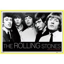 Poster encadré: Rolling Stones - Out Of Our Heads (61x91 cm), Cadre Plastique, Jaune