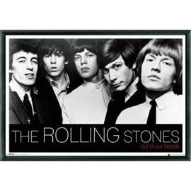 Poster encadré: Rolling Stones - Out Of Our Heads (61x91 cm), Cadre Plastique, Noir
