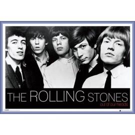 Poster encadré: Rolling Stones - Out Of Our Heads (61x91 cm), Cadre Plastique, Pourpre