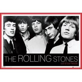 Poster encadré: Rolling Stones - Out Of Our Heads (61x91 cm), Cadre Plastique, Rouge