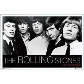 Poster encadré: Rolling Stones - Out Of Our Heads (61x91 cm), Cadre Plastique, Blanc