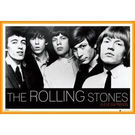 Poster encadré: Rolling Stones - Out Of Our Heads (61x91 cm), Cadre Plastique, Orange