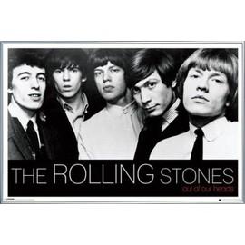 Poster encadré: Rolling Stones - Out Of Our Heads (61x91 cm), Cadre Plastique, Argent