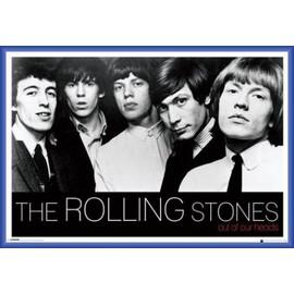 Poster encadré: Rolling Stones - Out Of Our Heads (61x91 cm), Cadre Plastique, Bleu