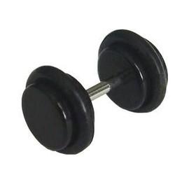 Boucle D'oreille . Faux Ecarteur . Plug . ( Neuf !!! ) . Rond Noir . ( Qualit� Piercing - Acier Chirurgical Inoxydable )