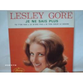 LESLEY GORE // JE NE SAIS PLUS // TU T ' EN VAS