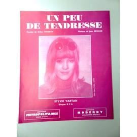 """Partition """"Un peu de tendresse"""" (Sylvie Vartan)"""
