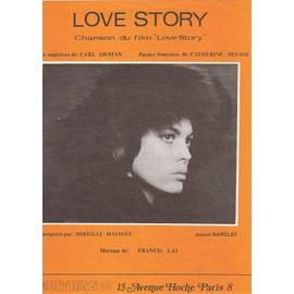Love story (une histoire d'amour) (feuillet) interprétée par Mireille MATHIEU