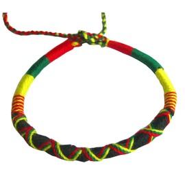 Bracelet Br�silien - Bracelet De L'amiti� - Style Rasta Bob Marley Jamaique King Of Reggae Cool Brother - Fait � La Main - Porte Bonheur Du Br�sil - Bracelet Bresilien - Nouvelle Collection !!! -