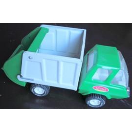 Camion Benne Poubelle En T�le Tonka Vert Et Blanc