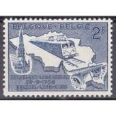 Electrification De La Ligne Bruxelles-Luxembourg - 1956 - 2 Francs - N� 996