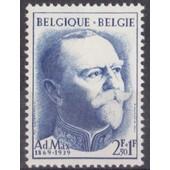 Adolphe Max - Bourgmestre De Bruxelles - 1957 - 2,50 +1 Francs - N� 1037