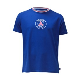 T-Shirt Psg - Collection Officielle Paris Saint Germain - Football Club Ligue 1 - Tee Shirt Logo Blason Maillot - Taille Adulte Homme