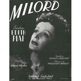 superbe partition edith piaf milord / georges moustaki
