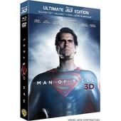 Man Of Steel - Ultimate Edition - Blu-Ray 3d + Blu-Ray + Dvd + Copie Digitale de Zack Snyder