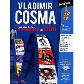 Cosma : Ses Plus Belles Musiques De Film ( + 1 Cd) - Saxophone