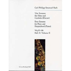 CPE Bach : 4 Sonates pour flûte et piano Vol. 2