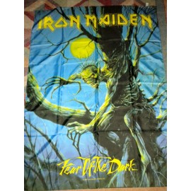 iron maiden fear of the dark Drapeau flag. env.106x77m collection hard rock