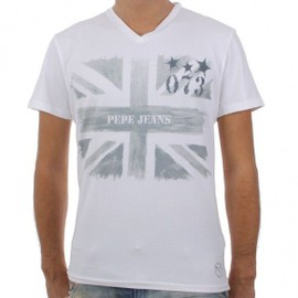 Tee Shirt Pepe Jeans Homme Charlie Blanc