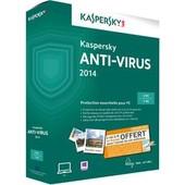 Kaspersky Anti-Virus 2014 - Ensemble De Bo�tes ( 1 An ) - 3 Pc - Win - Fran�ais