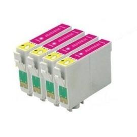 T0713 - 4 Cartouches D'encre Compatibles - Magenta Pour Epson Stylus Sx218 Sx515w Sx510w Sx115 Sx200 Sx400 Sx105 Sx415 Sx215 Sx205 Sx410 Sx600fw Sx100 Sx405 Sx110 S21 Sx210 Sx610fw S20 Wifi Dx7450