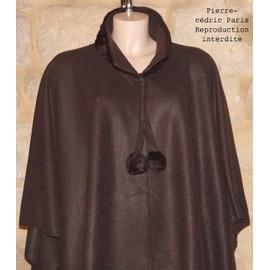 Cape Poncho Polaire Imitation Fourrure !! Taille Unique (36 Au 56) !! 100%Polyester !! Expedition En 24/48hrs