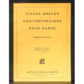 Gérard Devos Pièces brèves contemporaines pour harpe : Castérède, Damase, Devos, Dubois, Tournier.