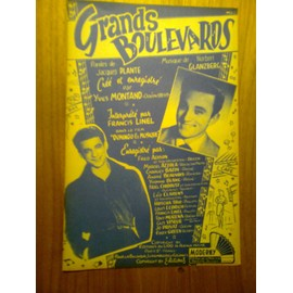 """Partition """"Grands Boulevards"""" (yves Montand)"""