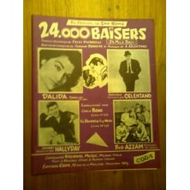 "Partition ""24000 baisers"" (Dalida, Johnny Hallyday, Adriano Celentano)"
