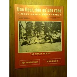 """Partition """"Une fleur, rien qu'une rose"""" (Crazy Horse)"""