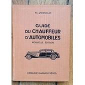Guide Du Chauffeur D'automobiles Nouvelle �dition de Zerolo
