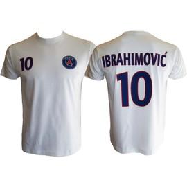 T-Shirt Psg - Zlatan Ibrahimovic - N�10 - Collection Officielle Paris Saint Germain - Football Club Ligue 1 - Adulte Homme - Blason Maillot