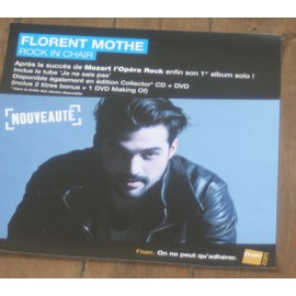plv souple 30x30cm florent mothe rock in chair ( mozart opera rock ) magasins fnac