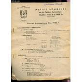 Notice Sommaire Sur Les Pistolets Automatiques - Modeles 1935 A Et 1935 S. de Ecole De Sous Officiers De Cherchell