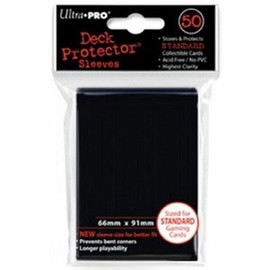 Prot�ge Cartes Sleeves Ultra Pro Standard Noir X 50