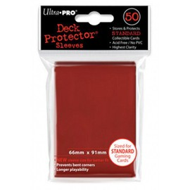 Prot�ge-Cartes Sleeves Ultra Pro Standard Rouge X 50