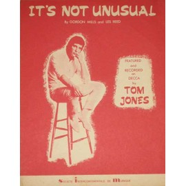 Tom Jones It's Not Unusual by Gordon Mills and Les Reed 1965 Partition Music Sheet