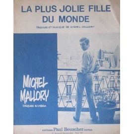 Partition musicale MICHEL MALLORY la plus belle fille du monde 1967