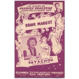 brave margot / paroles et musique : georges brassens / édition originale 1952 / patachou