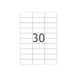 Herma Premium - �tiquettes En Papier Plastifi�es Mates Autocollantes Permanentes - Blanc - 70 X 29.7 Mm 3000 �tiquette(S) ( 100 Feuille(S) X 30 )