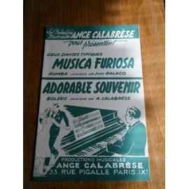 Ange Calabrèse - Musica Furiosa et Adorable Souvenir