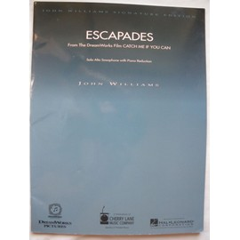 "JOHN WILLIAMS - ESCAPADES - PIANO- solo alto saxophone wiyh piano reduction  - from the dream works film ""CATCH ME IF YOU CAN"""